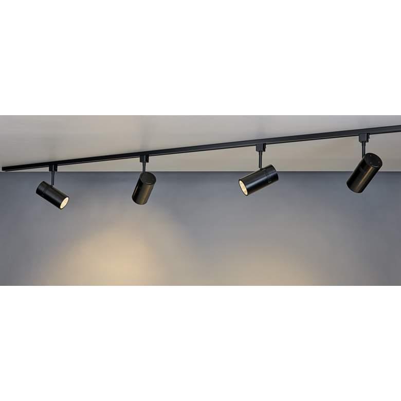 Bruck Eco System 4 Light Black Led Track Light Kit 68y74