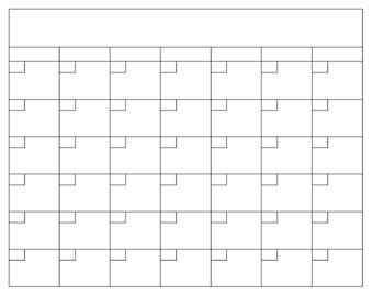Blank Calendar Template  Blank Calendar Template Blank Calendar