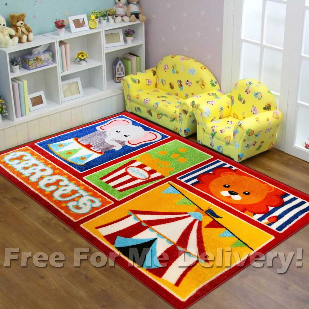 Super Kids Circus Carnival Show Fun Floor Rug S 100x150cm Free Delivery Ebay Floor Rugs Rugs Flooring