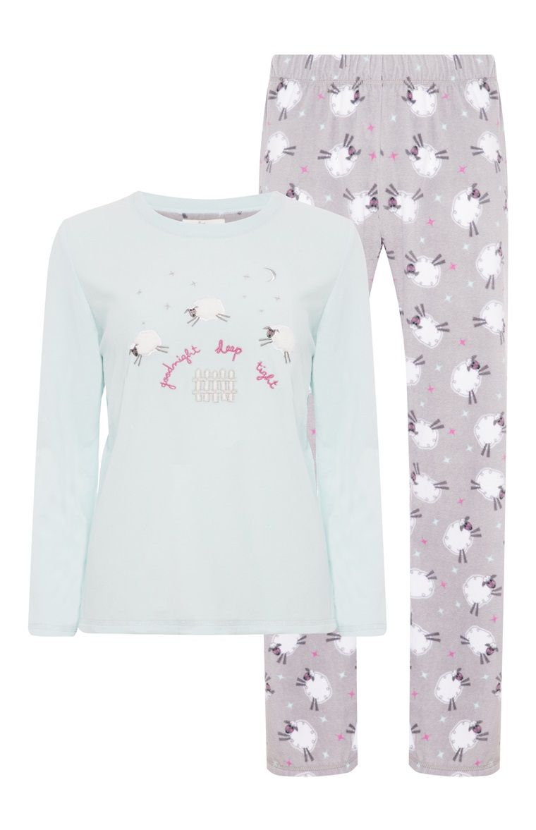 cde9d4b6c9 Primark - Pijama polar Goodnight Sheep