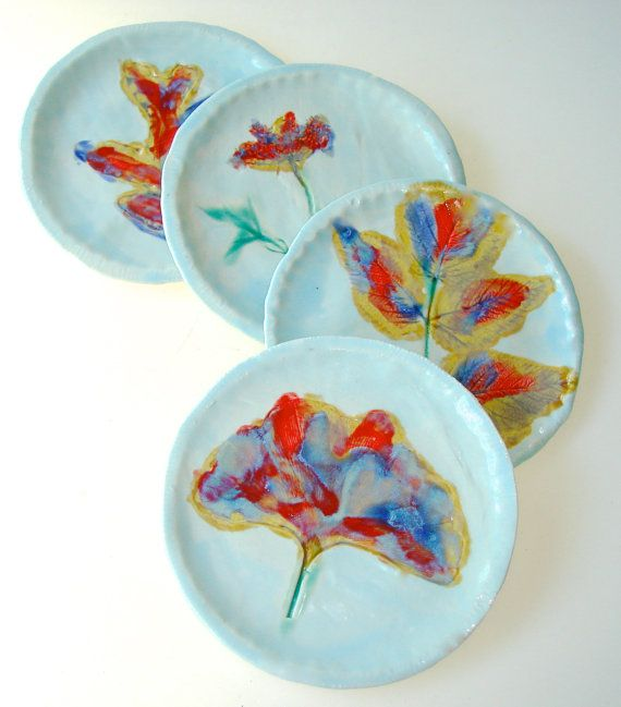 Small Decorative Plates Sets: Small Plates, Appetizer Plate, Fall Leaves Plate Set