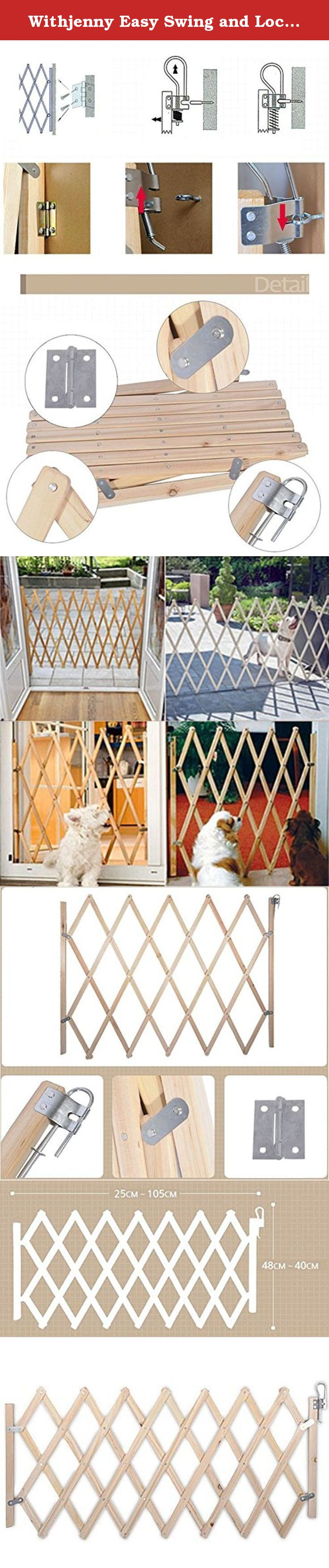 Withjenny Easy Swing and Lock Wood Gate (Small). Enjoy the