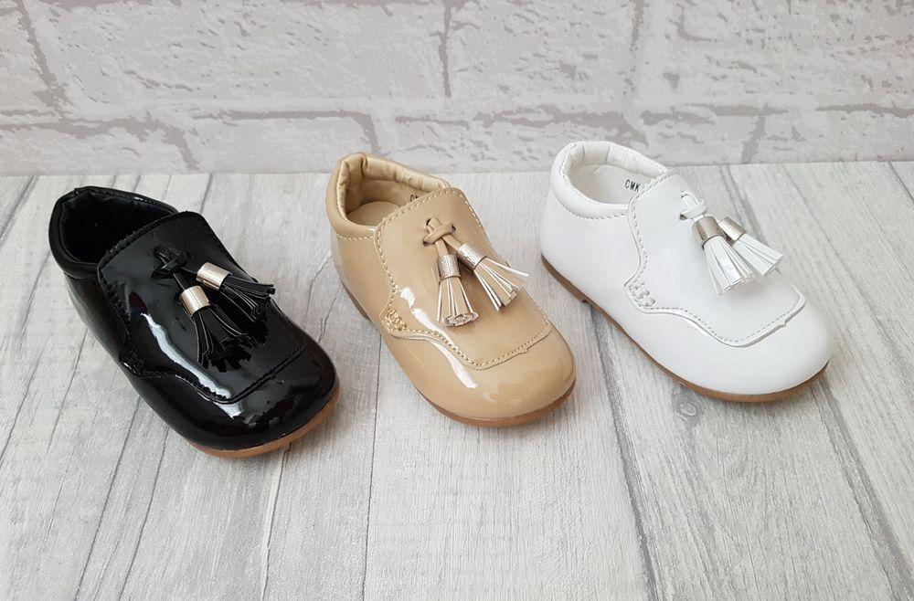 Boys Gorgeous Spanish Style Patent Tassel Shoes Sizes UK Infant 3-8