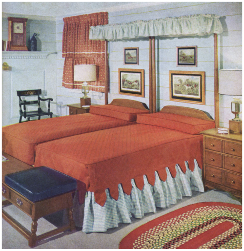 1950s Bedroom With Twin Beds 1950s Earlier Decor In 2019