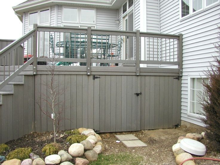 Deck skirting ideas if your or porch is elevated even  little above grade level it   best to polish off the underside with landscaping also rh pinterest