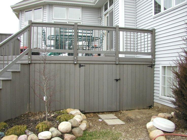 Storage Under Deck Ideas Bing Images Deck Skirting Building A Deck Decks Backyard