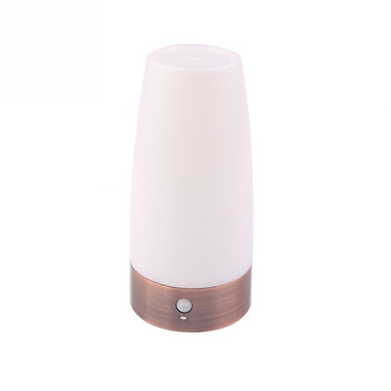 Retro Led Night Light Wireless Pir Motion Sensor Indoor Outdoor Battery Operated Sensitive Portable Moving Table Lamp Led Night Light Night Light Light Table