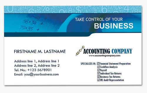 4 Financial Business Cards for Accountants