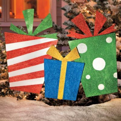 Christmas Presents Trio Outdoor Decoration Improvementscatalog 267405