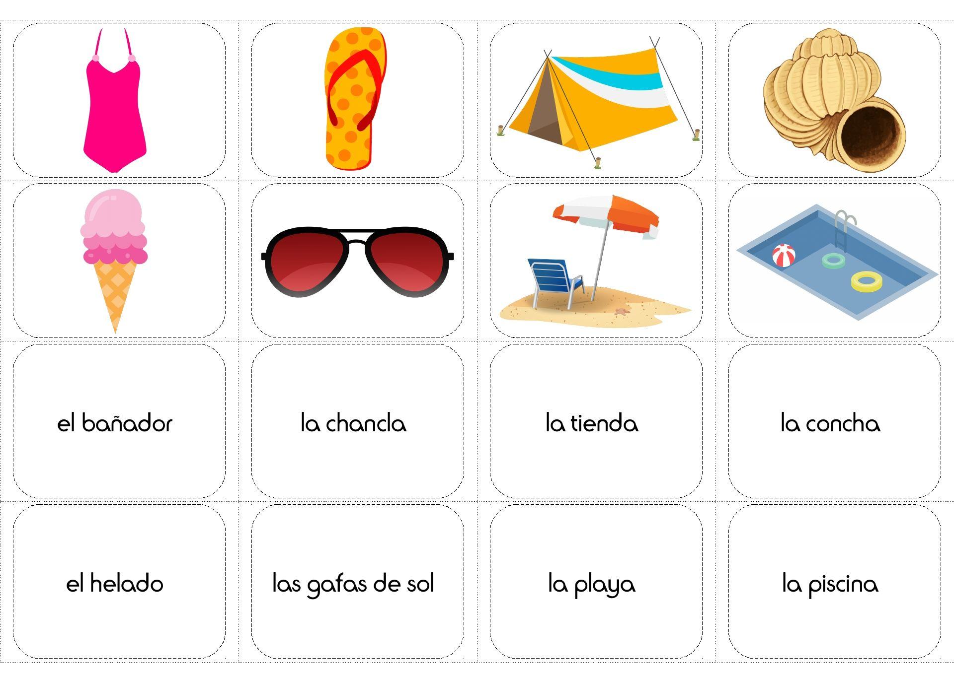 Summer Vocabulary In Spanish