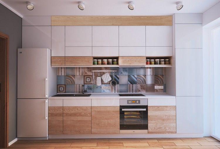 Aménagement Et Décoration Dun Appartement De M Amenagement - Idee amenagement kitchenette pour idees de deco de cuisine