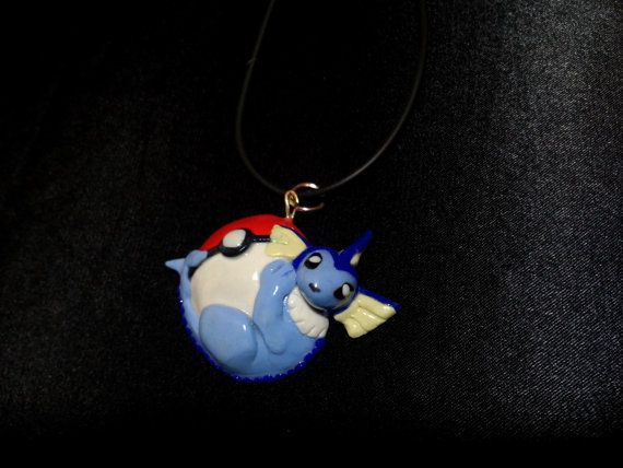 Vaporeon+Pokemon+Pendant+by+squidhop+on+Etsy,+$30.00