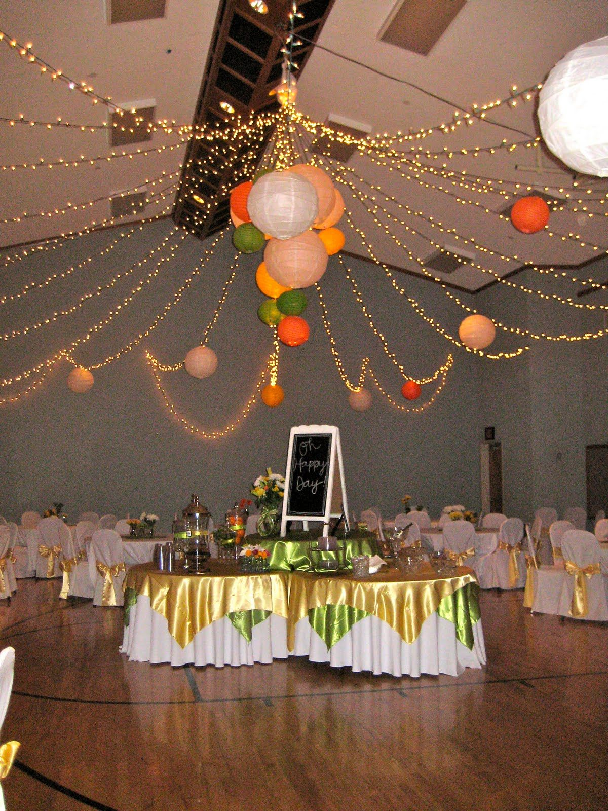 Ceiling Of Lights With Paper Lanterns Transforms The