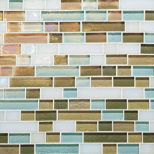 Back Splash Caribbean Blend Random Linear Mosaic Tile By Glass - Daltile backsplash ideas