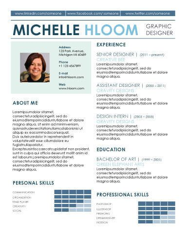 Free Resume Template by Hloom Places to Visit Pinterest