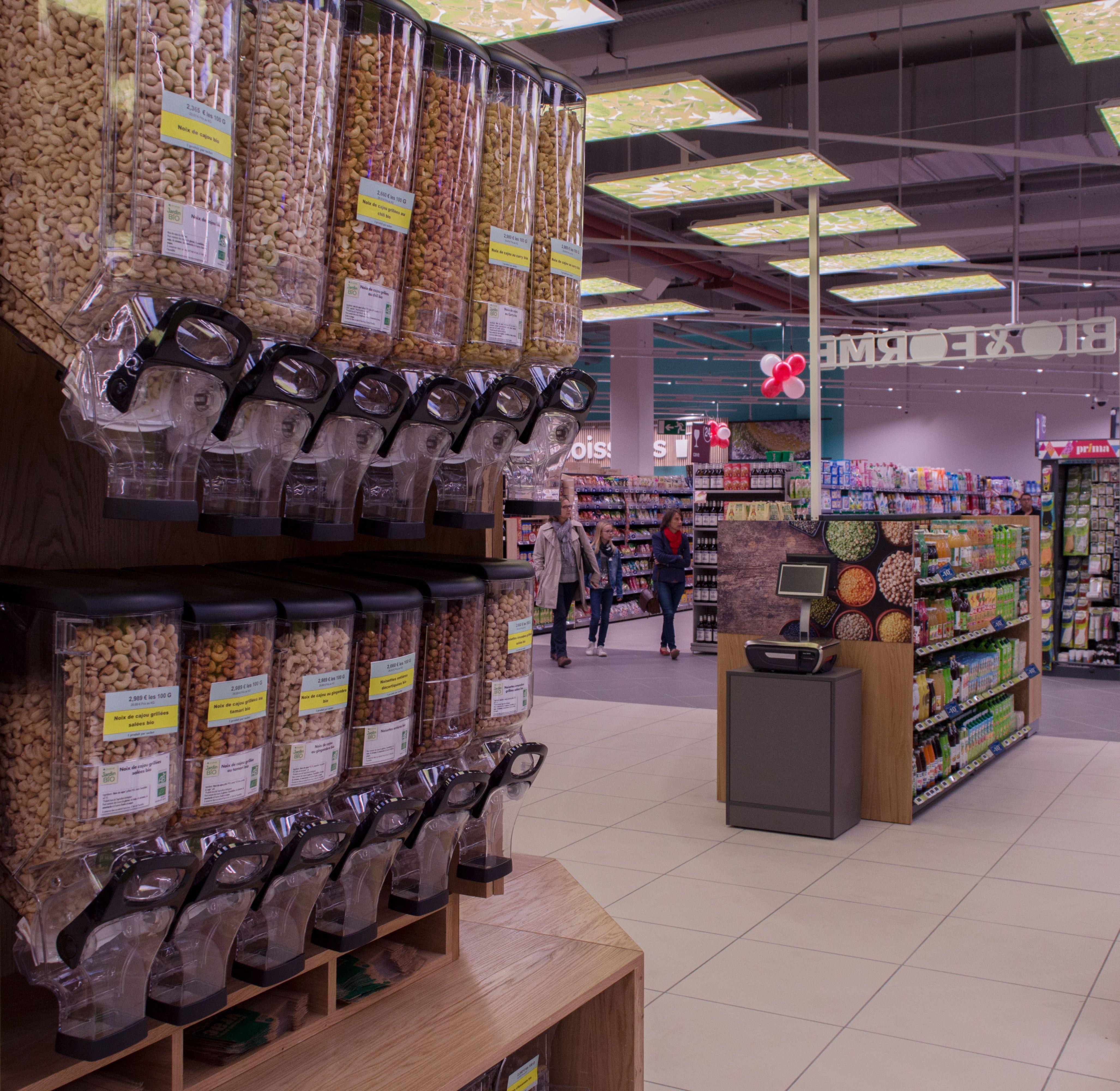 b2e49d41d6858f Agencement magasin bio - Distributeur à céréales   Réalisations ...