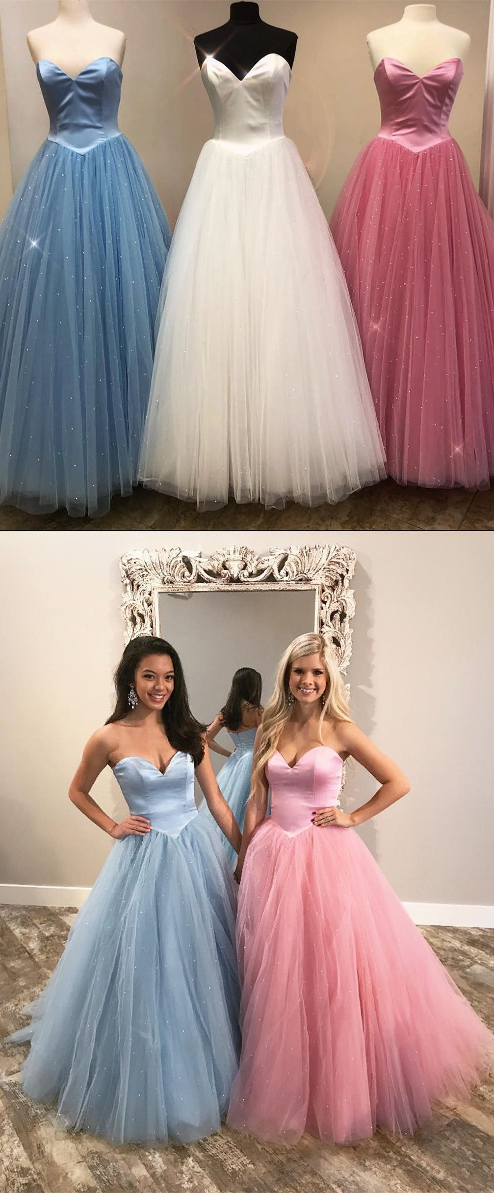 Ball gown sweetheart long prom dresses blue long prom dresses