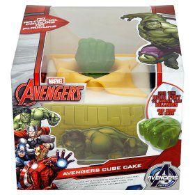 Marvel Avengers Cube Cake Olivers 4th birthday Pinterest
