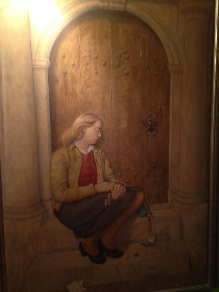 Hier is de oudste dochter van Jan Strube Greet olieverf geschilderd door Jan Strube 1,95 bij 1,20 m  JAN STRUBE