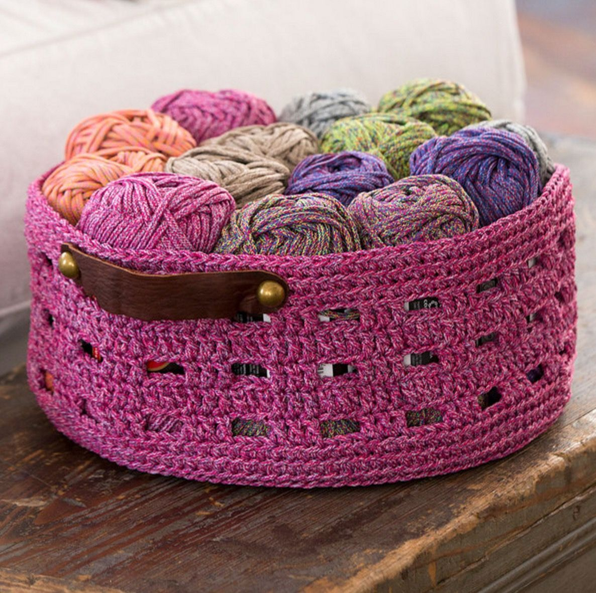 Crochet storage basket pattern lots of ideas rope basket crochet storage basket pattern lots of ideas bankloansurffo Gallery