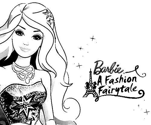 Barbie in a Fashion Fairytale Color Pages Inkleur Pinterest