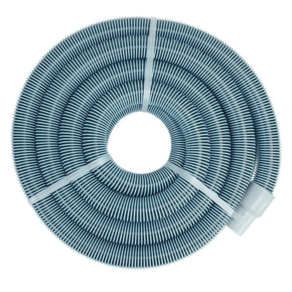 Pool Central Blue Extruded EVA In-Ground Swimming Pool Vacuum Hose with Swivel Cuff 50 x 1.5