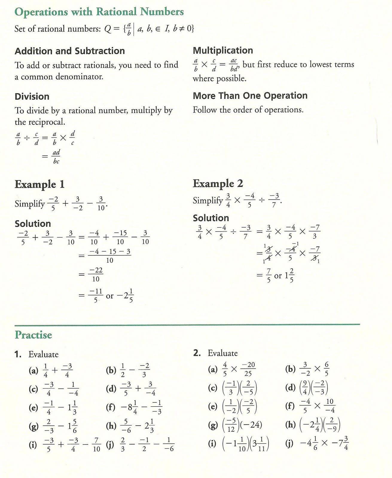 Grade 10 Academic Math Fractions Practice 10th Grade Math Worksheets Math Worksheets Mathematics Education