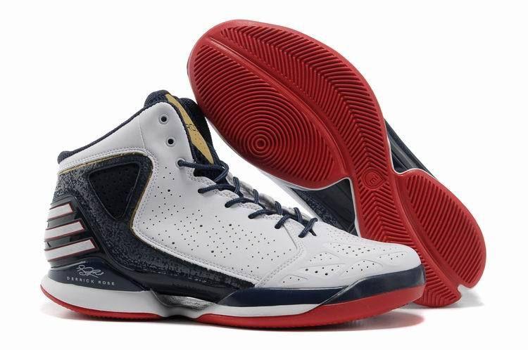 Adidas AdiZero Rose 773 Signature Shoes White Blue Black Red For Sale