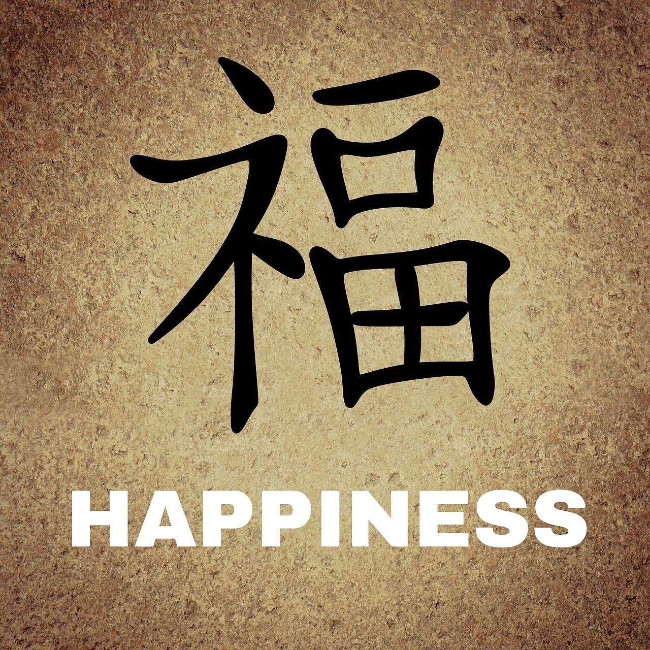 Chinees, Tekens, Achtergrond, Geluk