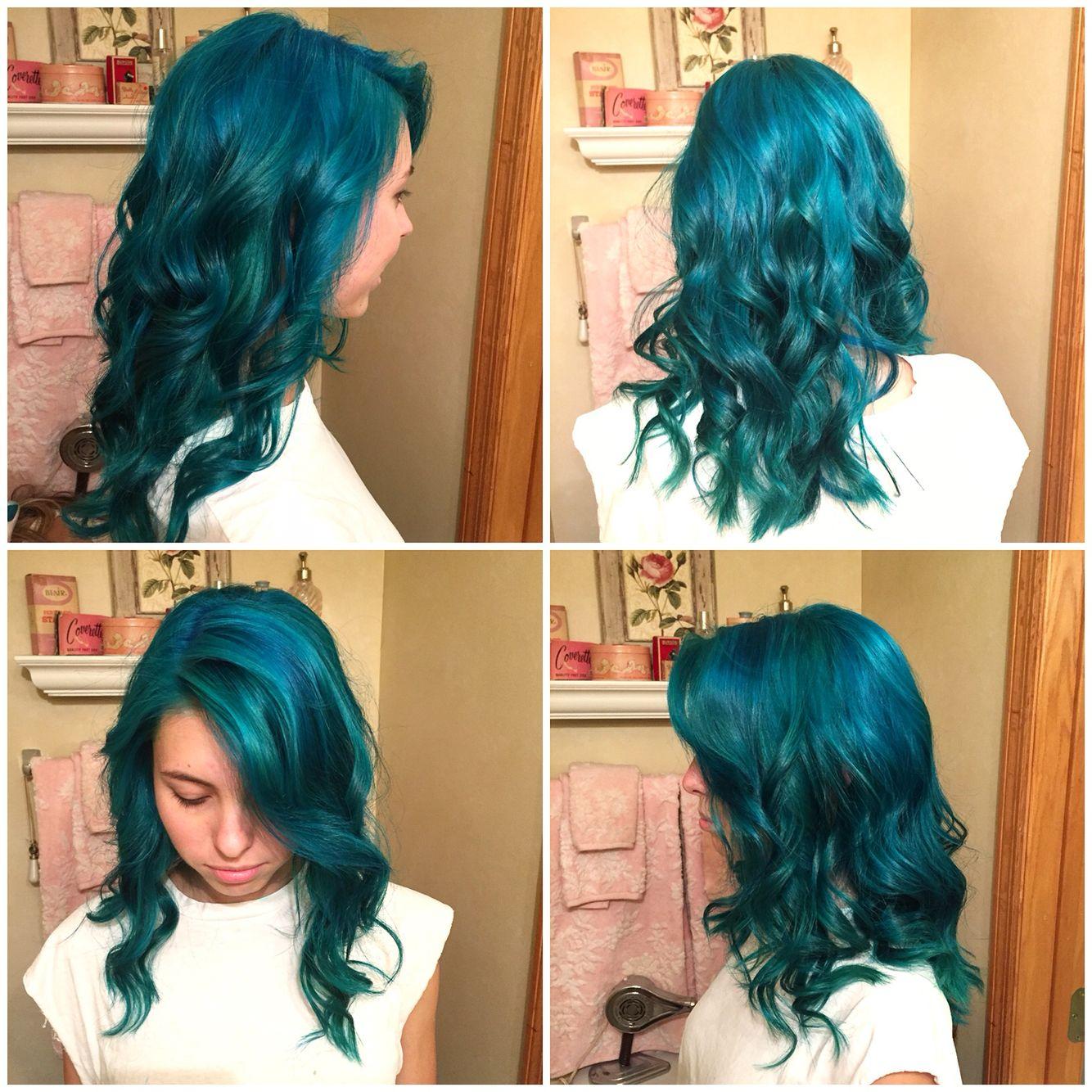 Mermaid Hair Manic Panic Atomic Turquoise And Voodoo Blue