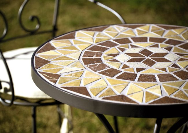 mesa de mosaico artesania en forja jardin terraza www On artesania en mosaico