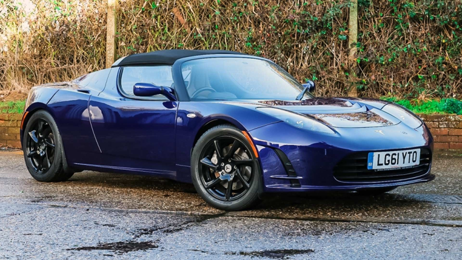 You could buy this rare Tesla Roadster heading to auction
