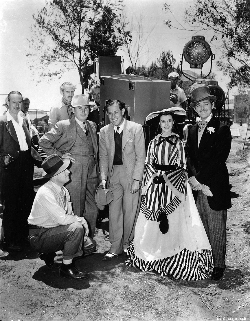Photo from Gone with the Wind movie. From left, standing