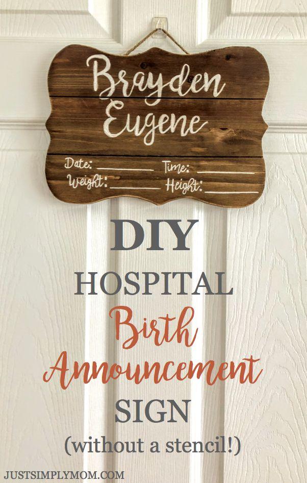Baby Born Announcement Hospital Door Hangers