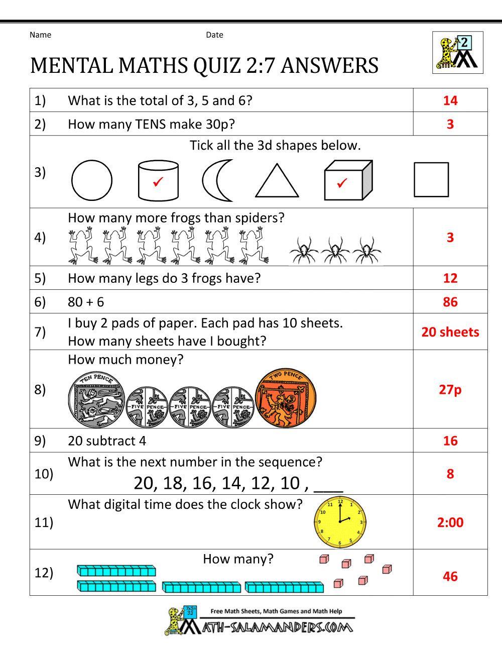 3 Mental Maths Questions For Class 7 2 Year 7 Maths Worksheets Printable 1st Grade Math In 2020 Mental Maths Worksheets Year 7 Maths Worksheets Math Worksheets