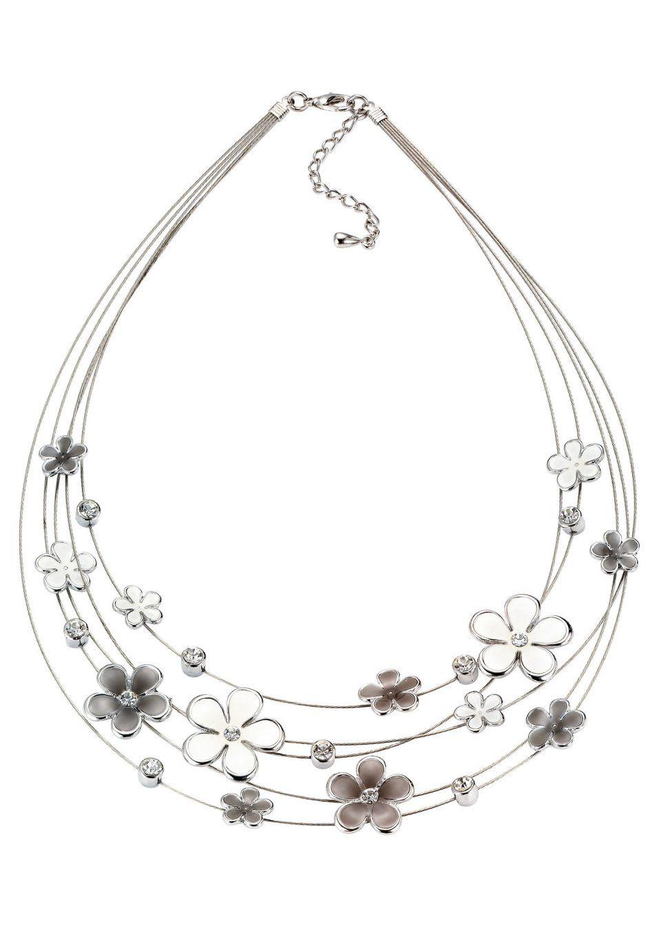 Collier «Flowers» grigio