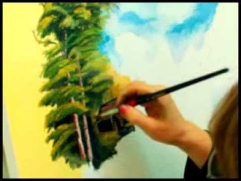 Gulser Gultekinle Yagli Boya Dersler Kolay Akrilik Resimler Sanat Ogreticiler Resim Sanati