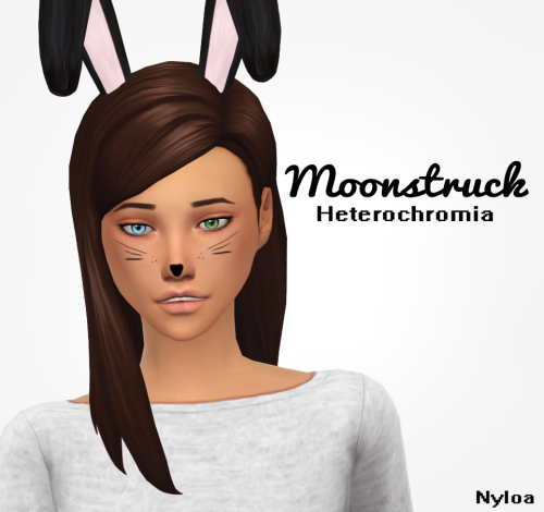 Sims 4 CC's - The Best: Moonstruck Heterochromia Eyes by