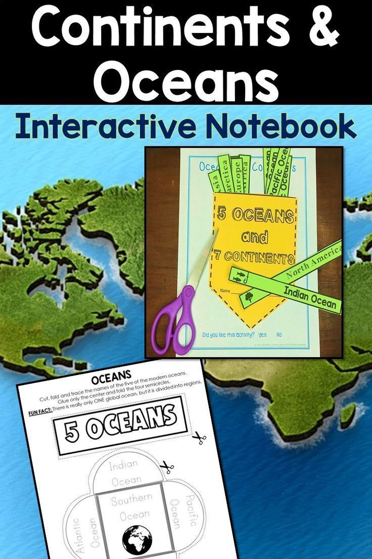 Continents and oceans activities interactive notebook social continents and oceans activities interactive notebook social studies kindergarten and students freerunsca