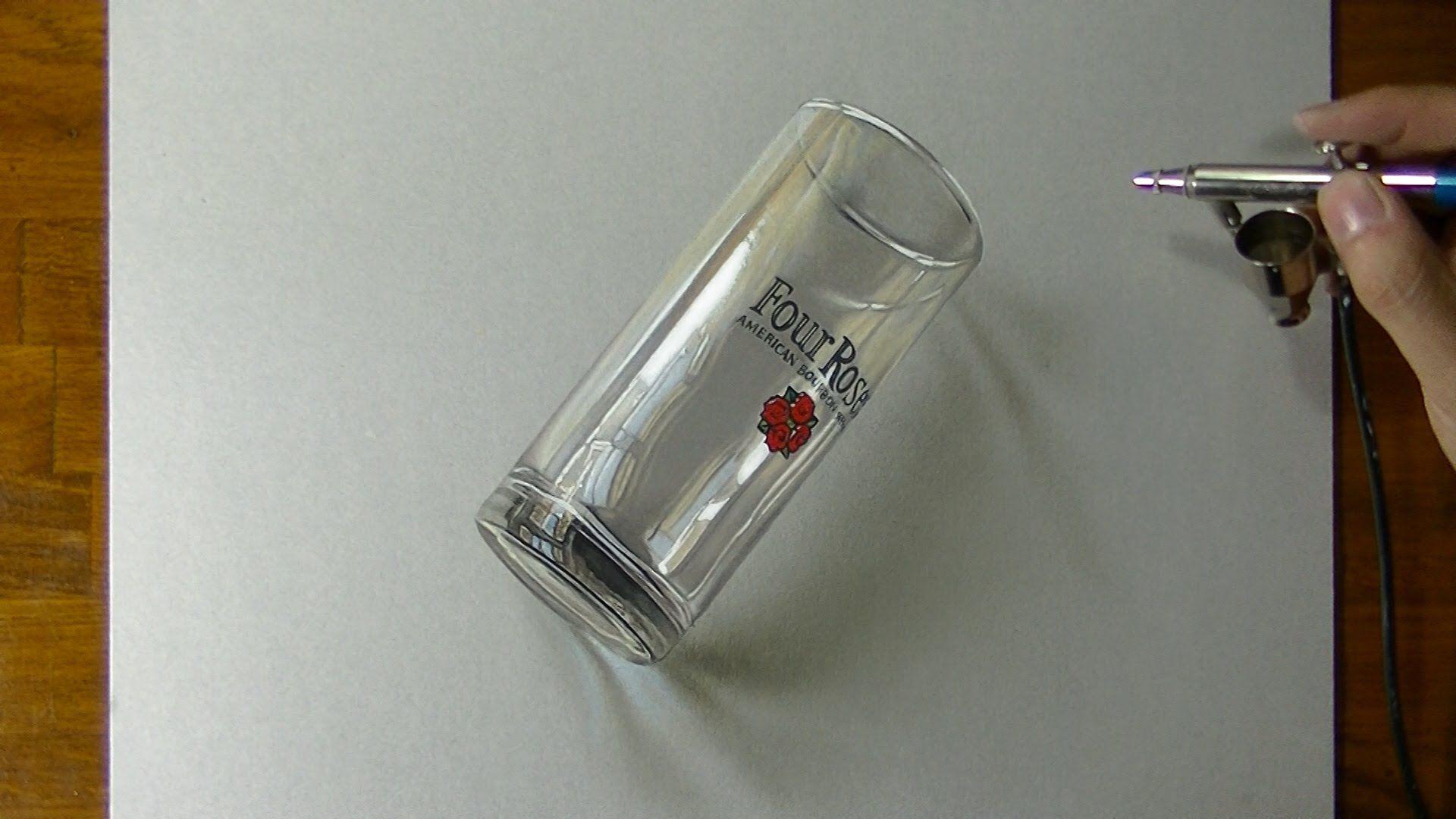 Disegno di un bicchiere di whisky come disegnare in 3d for Disegnare in 3d online