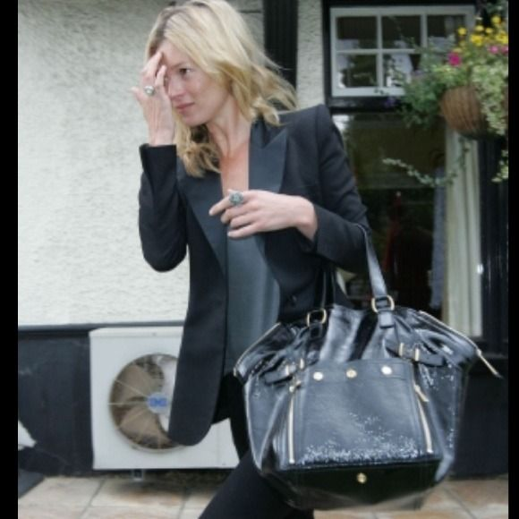 c03ffaf4816 Yves Saint Laurent Bags - YSL Downtown Black Patent Leather Bag Authentic!