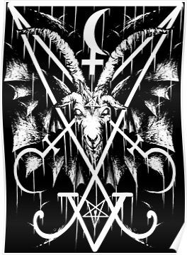 SIGIL OF LUCIFER AND BAPHOMET Poster | vade | Lucifer teufel