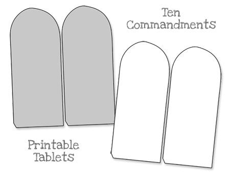 Printable Ten Commandments Tablets  Blank  Printable Treats