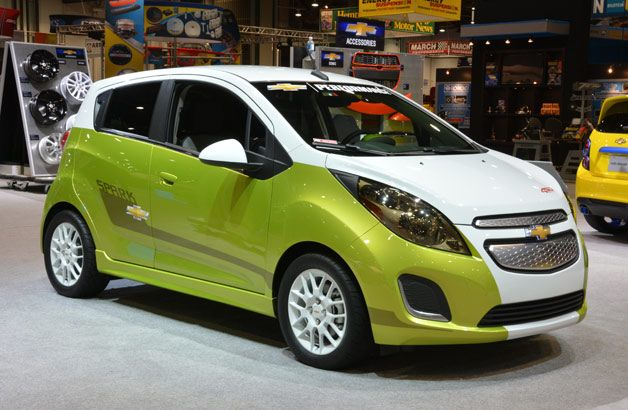 Chevy Spark Ev Tech Performance Flaunts 450 Lb Ft And Two Tone Paint Job Chevrolet Spark Chevy Hybrid Car