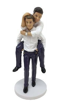 Wedding Cakes Toppers December Diamonds Grooms Piggyback Gay