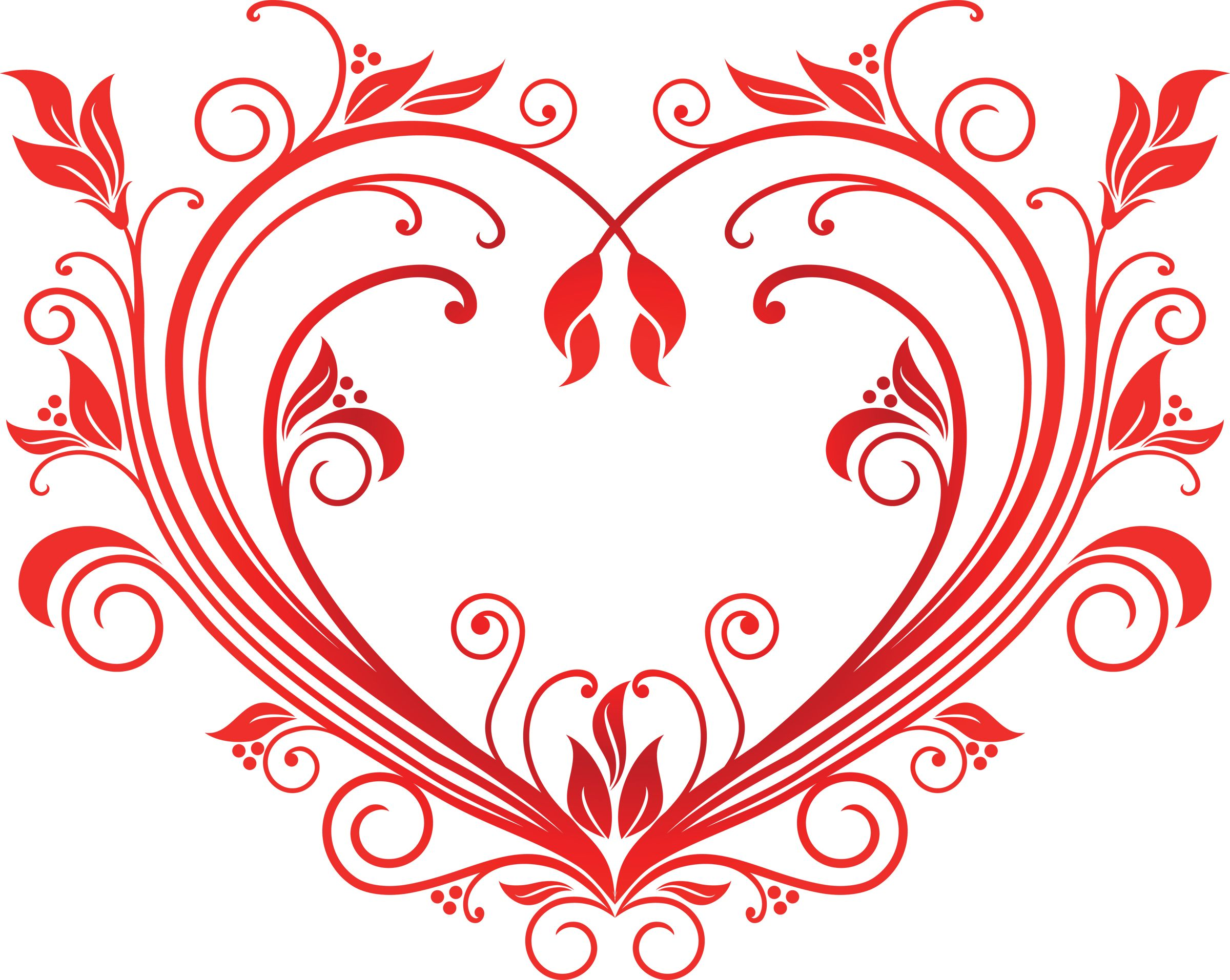 buy valentine heart by seamartini on graphicriver red valentine heart in floral style for design editable you can use any vector program and jpeg can