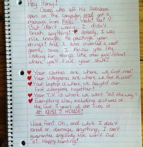 Best.  Breakup note.  Ever!!!!!