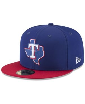 New Era Texas Rangers Batting Practice Pro Lite 59fifty Fitted Cap In Blue Red Modesens Texas Rangers Fitted Hats Texas Rangers Spring Training