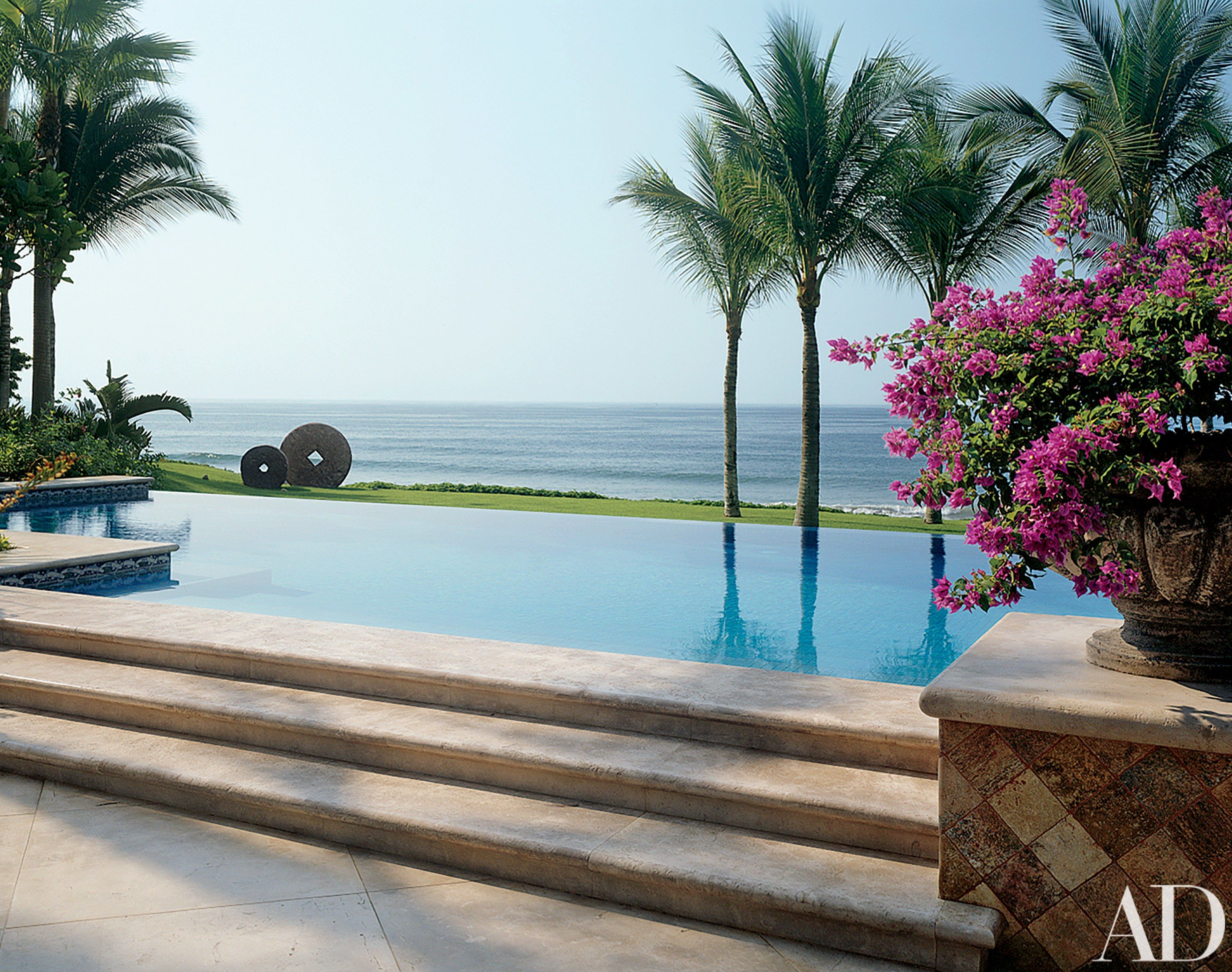Beach Pool by Peter Roy Bowman and Guillermo Michel Renteria and Alvaro Gomez Flores in Punta Mita Mexico