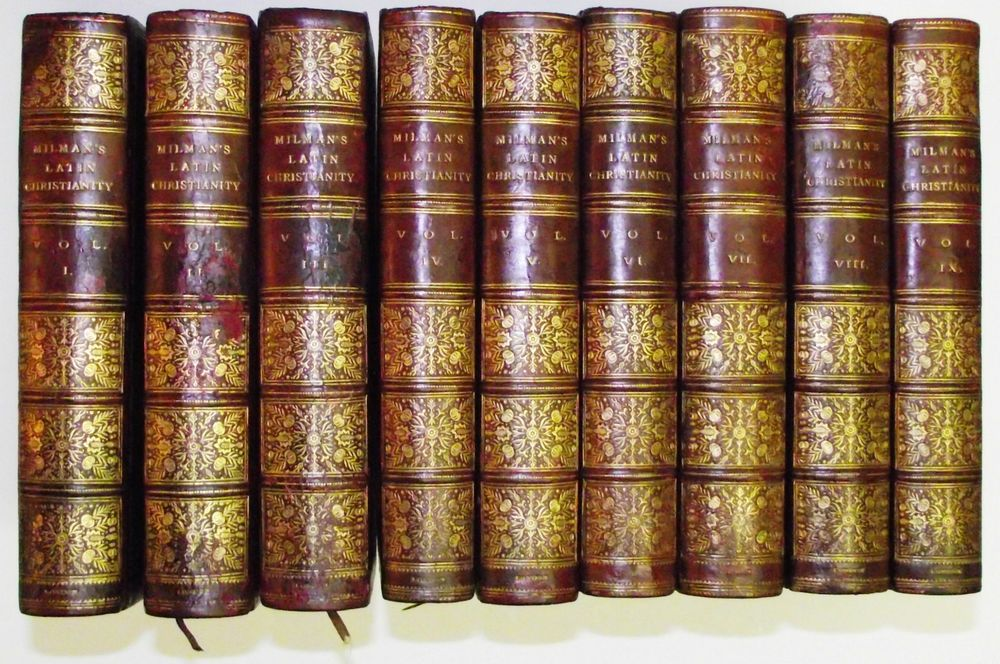 History of Latin Christianity Henry Hart Milman 9 vol set